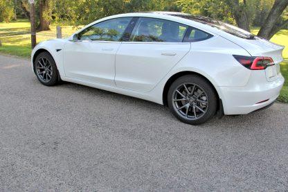 Model 3 mud flaps rear side profile